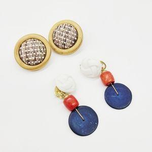 Set of 2 Pair of Wooden Earrings